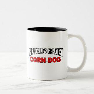 El perro del maíz más grande del mundo tazas