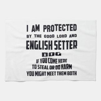 El perro del organismo inglés me protejo el buen toalla de cocina