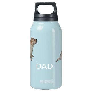 El perro del papá botella isotérmica de agua