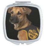 El perro del rescate de Brown con me adopta chalec Espejo Para El Bolso