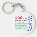 El perro en la casa gobierna - reglas para vivir c llaveros personalizados