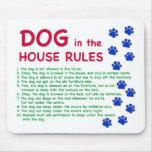 El perro en la casa gobierna - reglas para vivir c alfombrilla de raton