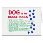 El perro en la casa gobierna - reglas para vivir c tarjeta