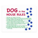 El perro en la casa gobierna - reglas para vivir c postales
