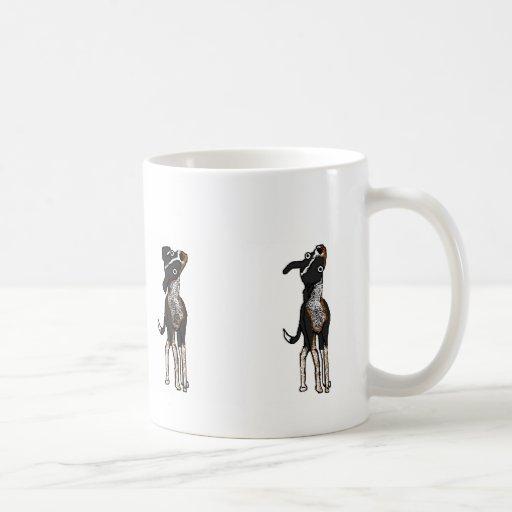 El perro es confuso taza