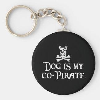 El perro es mi Co-Pirata Llavero Redondo Tipo Pin