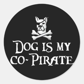 El perro es mi Co-Pirata Pegatinas