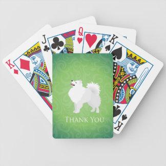 El perro esquimal americano le agradece diseñar baraja de cartas bicycle