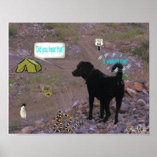 El perro Fart Poster
