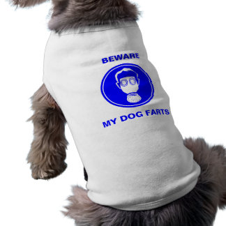 El perro Fart top del perrito Playera Sin Mangas Para Perro