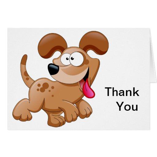 El perro feliz le agradece tarjeton