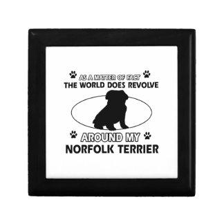 El perro gira alrededor de mi Norfolk Terrier Caja De Regalo