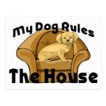 El perro gobierna la casa tarjetas postales