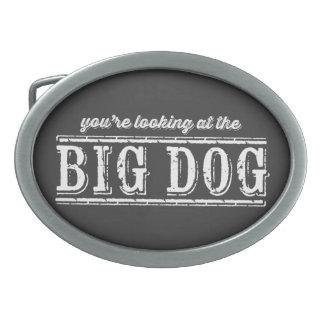 El perro grande hebilla de cinturón oval