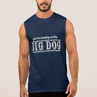 El perro grande playera sin mangas