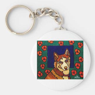 El perro llavero redondo tipo pin