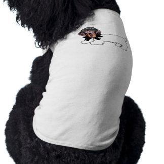 El perro manuscrito del novio camiseta sin mangas para perro