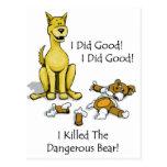 El perro mató al oso postal