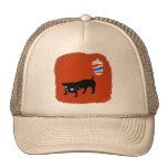 El perro negro del peluquero gorras de camionero