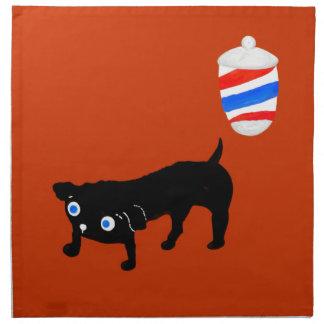 El perro negro del peluquero servilletas de papel