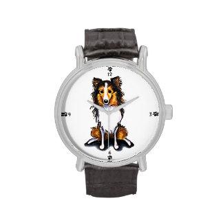 El perro pastor de Sheltie Shetland del Sable Relojes De Pulsera