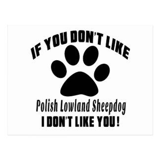 El perro pastor polaco de la tierra baja no tiene postal