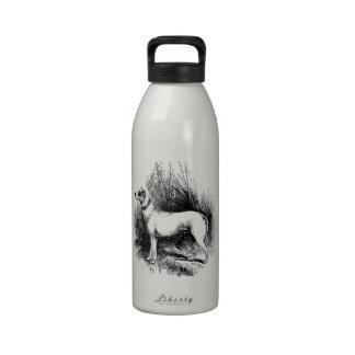 El perro perdiguero confiable botellas de beber