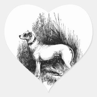 El perro perdiguero confiable pegatina en forma de corazón