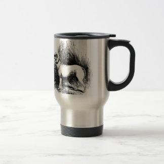 El perro perdiguero confiable taza térmica