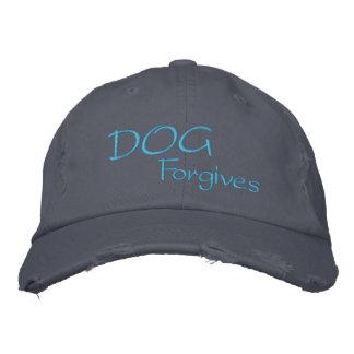 El perro perdona el gorra destruido gorra de beisbol bordada