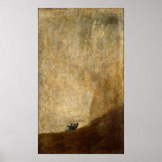 El perro (pinturas negras) por Francisco Goya 1820 Póster
