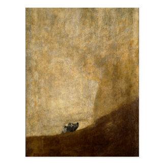 El perro (pinturas negras) por Francisco Goya 1820 Postales