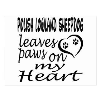 El perro polaco del perro pastor de la tierra baja postal
