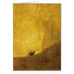 El perro, por Francisco de Goya Tarjetón