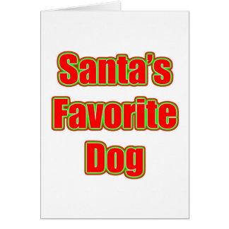 El perro preferido de Santa Tarjeta Pequeña