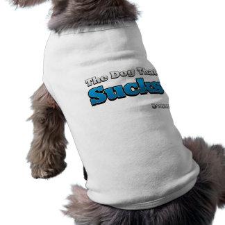 El perro que chupa playera sin mangas para perro