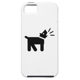 El perro raspa la caja del iPhone 5 del pictograma Funda Para iPhone SE/5/5s