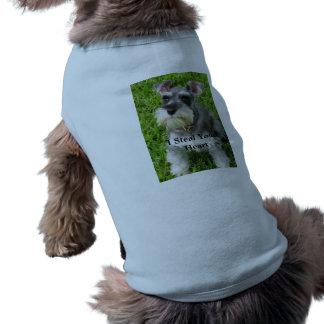 El perro roba la camiseta del perrito del corazón playera sin mangas para perro