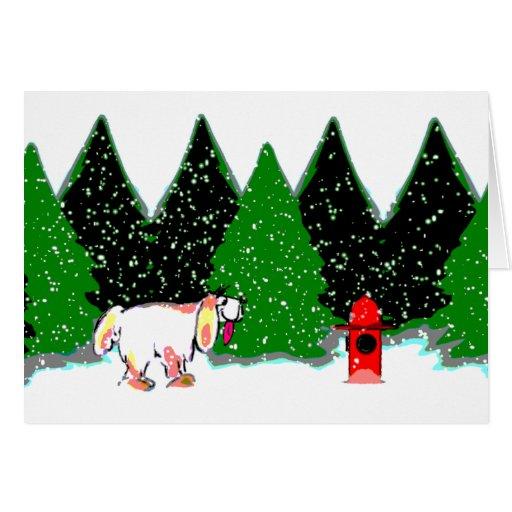 El perro soña la tarjeta del día de fiesta del ~