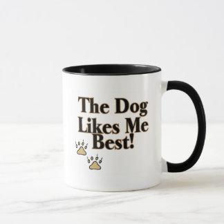 El perro tiene gusto de mí mejor