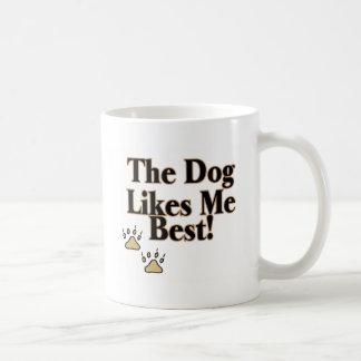 El perro tiene gusto de mí mejor taza de café