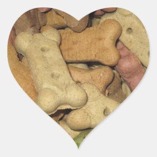 El perro trata a los pegatinas - sistema de 20 pegatina en forma de corazón