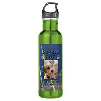 El perro verde K9 del servicio de las patas apaga