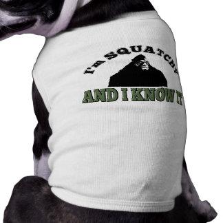 El perro y él de Squatchy lo sabe Playera Sin Mangas Para Perro