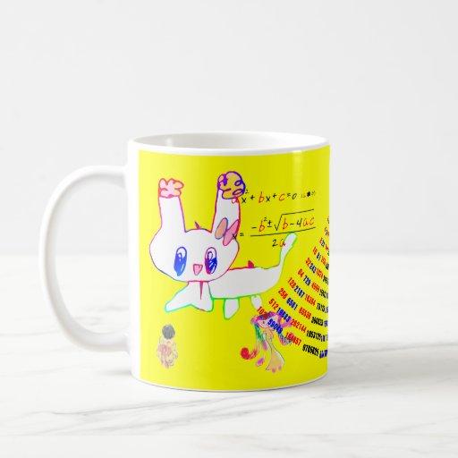 El perro y los compañeros (imagen de la galleta qu tazas de café