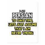 El persa… asume que nunca soy incorrecto tarjetas postales