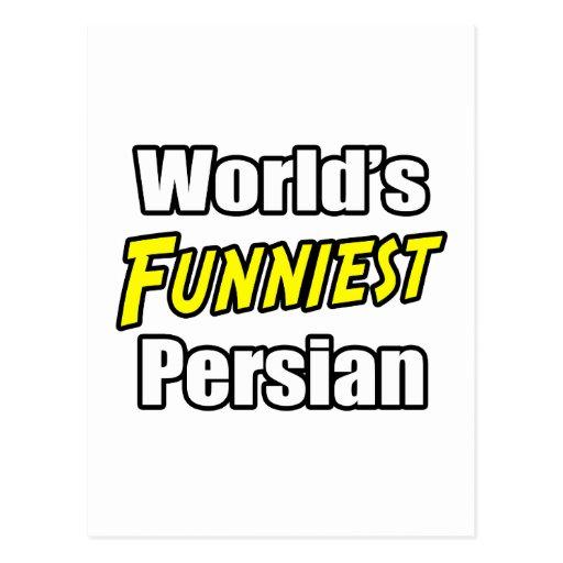 El persa más divertido del mundo tarjeta postal