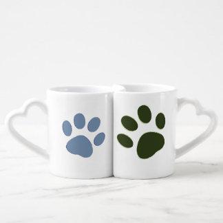 él persigue la pata y ella persigue la pata set de tazas de café