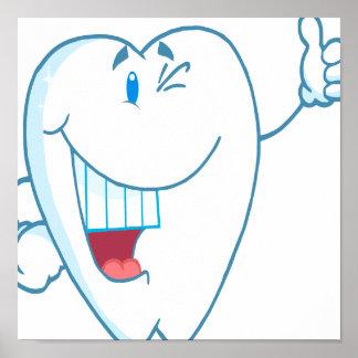 El personaje de dibujos animados limpio sonriente poster