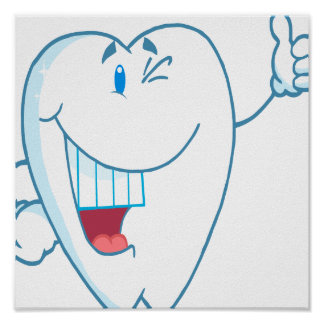 El personaje de dibujos animados limpio sonriente  póster